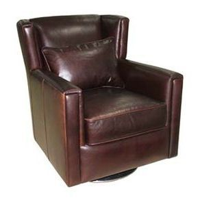 Cameron Leather Swivel Chair