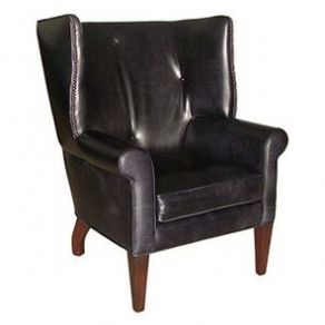 Yarra Leather Wing Chair
