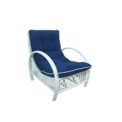 Indiana Cane Chair - White