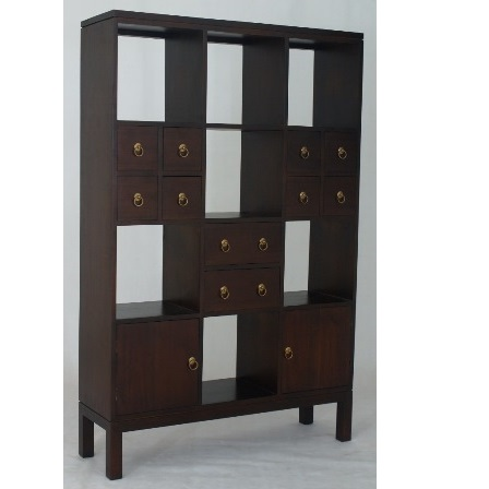 Storage Bookcase with 2 Doors 10 Drawers
