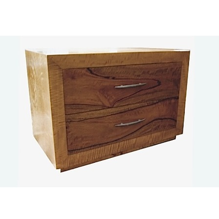 Fruitwood 2 drawer bedside