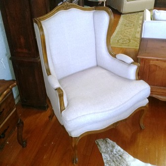 Louis Bergere Wing Chair