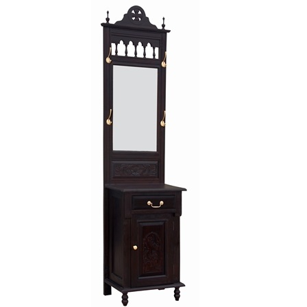 1 Door 1 DWR Carved Hall Stand